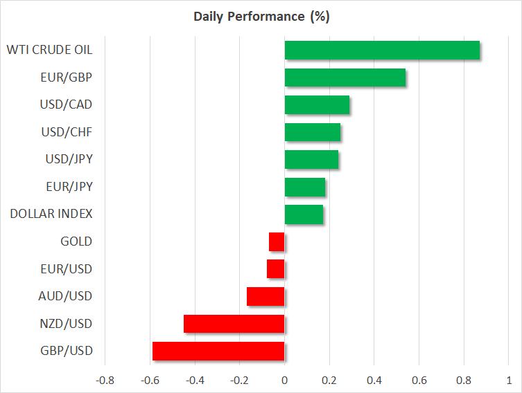Dollar rises as investor risk appetite returns